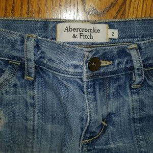 Abercrombie & Fitch Shorts - Abercrombie and Fitch destroyed denim shorts 2